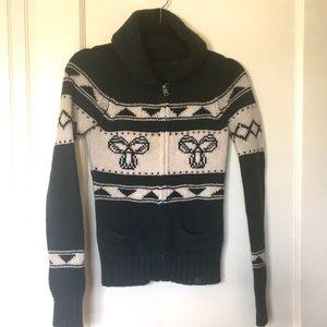 EUC TNA Sea to Sky Emerald 100%Lambs Wool Sweater